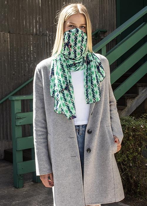 Womens Designer N95 Filtered Scarves